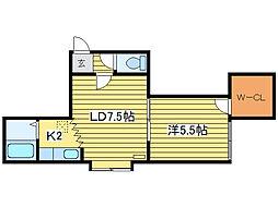 キャピタル95[2階]の間取り