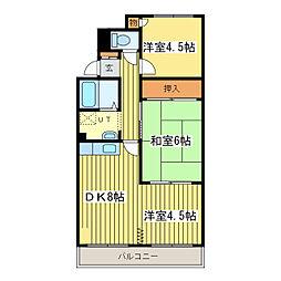 シャトー桜並木[1階]の間取り