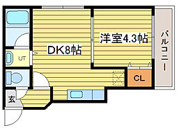 エアフォルグ北大II[3階]の間取り
