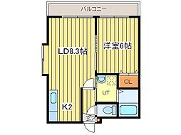 エレガンスハイム42[4階]の間取り