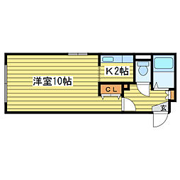 ドメス22[4階]の間取り