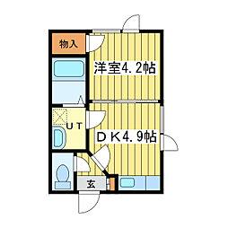 ルピナス環状通東[2階]の間取り
