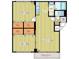 MURセブン[1階]の間取り