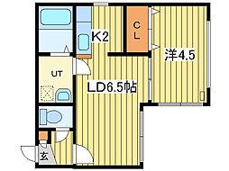 Huga Cottage(ヒューガコテージ)[4階]の間取り