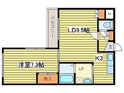 サンライズN25[1階]の間取り