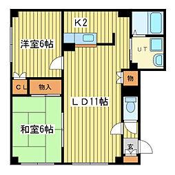 ミトラス7[2階]の間取り