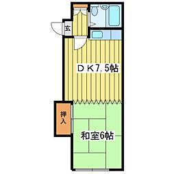 ホワイトハウスII[3階]の間取り