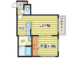 パークリュクスN18 ロイヤルヴィラ[3階]の間取り