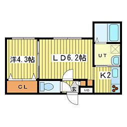 アークガーデン平岸II[3階]の間取り