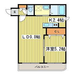 札幌市営東豊線 東区役所前駅 徒歩4分の賃貸マンション 4階1LDKの間取り