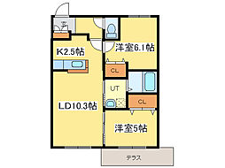Cuna N19[1階]の間取り