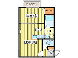 maison de fleur[4階]の間取り