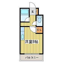 ハーモパレス札幌[2階]の間取り