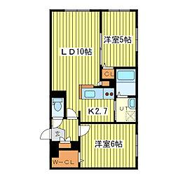 北海道札幌市東区本町一条1丁目の賃貸マンションの間取り