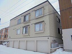 北海道札幌市東区伏古九条1丁目の賃貸アパートの外観