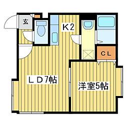 北海道札幌市東区伏古九条1丁目の賃貸アパートの間取り