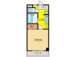 ハイネス21[3階]の間取り