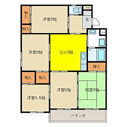 PALACE SHINO[3階]の間取り