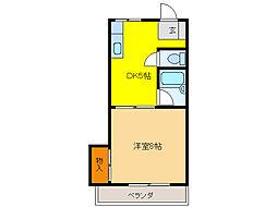 新葵ビル(加納)[5階]の間取り