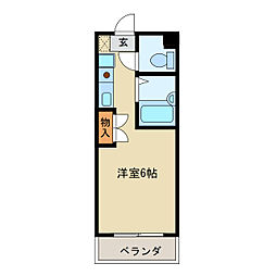 ブラウン・アベニュー・カメタ[3階]の間取り