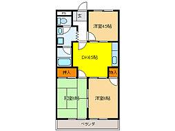 レジデンス桜田[3階]の間取り