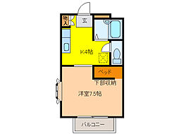 マルニヤコーポ 2[2階]の間取り