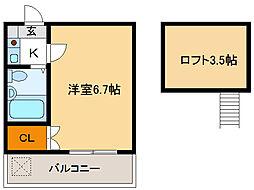 茶所第2[2階]の間取り