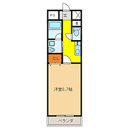 Castle Hills 柳ヶ瀬[13階]の間取り