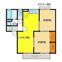セジュール薬師寺[1階]の間取り