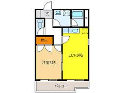 C・ISLAND11[3階]の間取り