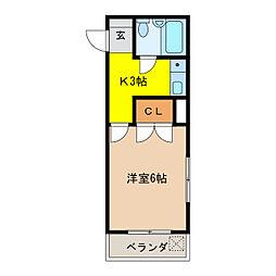 ロイヤルボックス[3階]の間取り