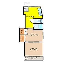 アロマージュフォレスト[3階]の間取り