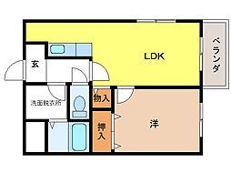 コンフォルトタウンIII[3階]の間取り