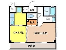 GRECALE松ノ浜[106号室]の間取り