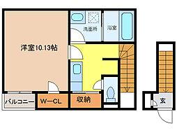 大阪府和泉市葛の葉町3丁目の賃貸アパートの間取り