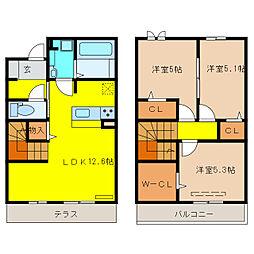 (仮称)D-room和泉市伯太町5丁目[102号室]の間取り