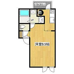 北海道北見市文京町の賃貸アパートの間取り