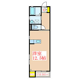 OOMS GRADE-Y 1階ワンルームの間取り