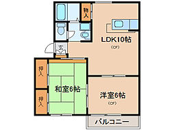 パークハウス瀬田[2階]の間取り