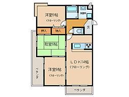瀬田グランドハイツ[1階]の間取り
