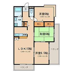 瀬田グランドハイツ[2階]の間取り