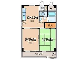 第16洛西ハイツ瀬田[2階]の間取り