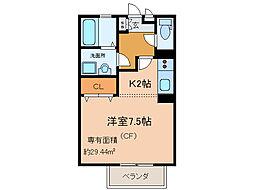 モナリエコートI[1階]の間取り