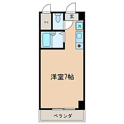 ハイツ玉川V[8階]の間取り