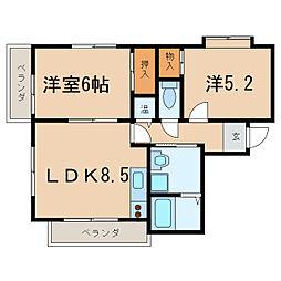 ボナールZ[1階]の間取り