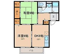ルーラルシティーIIA・B[1階]の間取り