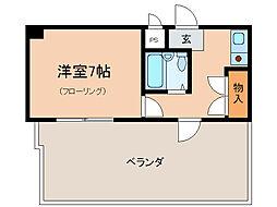ラフィーネ瀬田[4階]の間取り