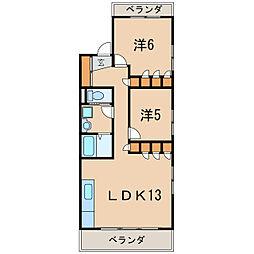 マウンテンハウス一里山[2階]の間取り