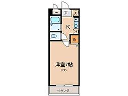 横山第10マンション[5階]の間取り