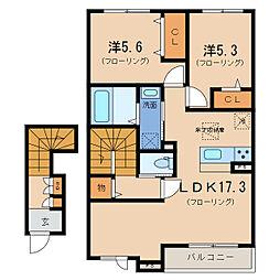 仮)シャーメゾン大江2丁目[2階]の間取り